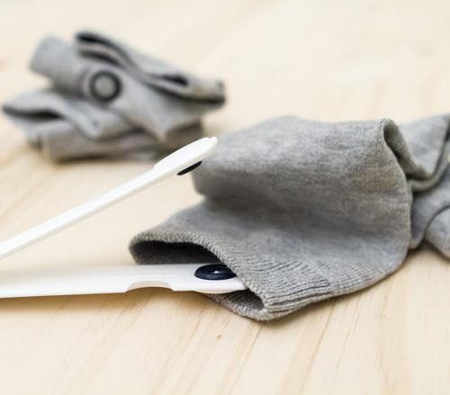 instalando ClickClix en calcetines