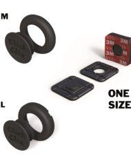 Pack M + L + Selbstklebend Spezial in Schwarz